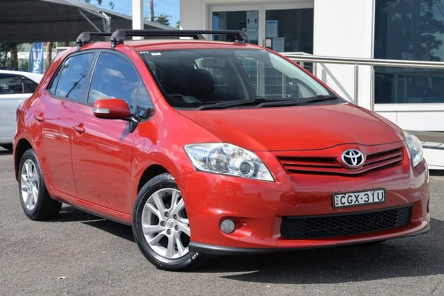 Used Toyota Corolla ZRE152R MY11 Ascent Sport North Gosford, 2012 Toyota Corolla ZRE152R MY11 Ascent Sport Red 6 Speed Manual Hatchback