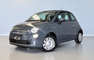 2015 Fiat 500 Series 3 Pop Dualogic Grey 5 Speed Sports Automatic Single Clutch Hatchback.