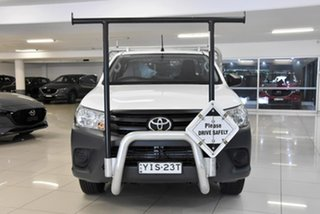 2019 Toyota Hilux TGN121R Workmate 4x2 White 6 Speed Sports Automatic Cab Chassis