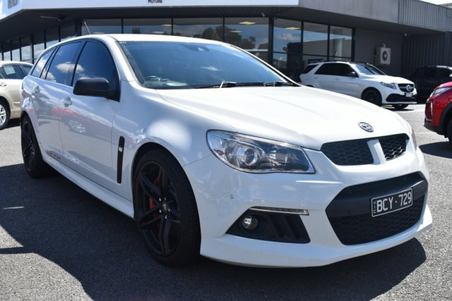 Used Holden Special Vehicles ClubSport Gen-F MY14 R8 Tourer Wantirna South, 2013 Holden Special Vehicles ClubSport Gen-F MY14 R8 Tourer White 6 Speed Manual Wagon