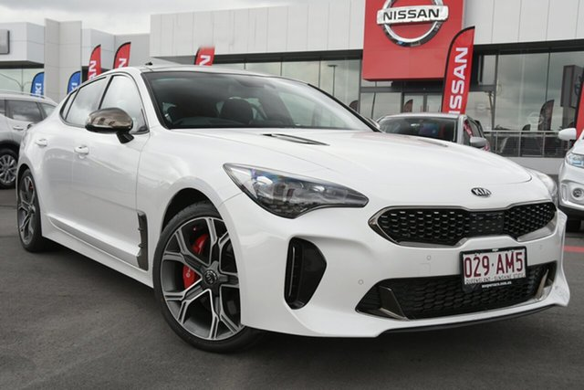 Used Kia Stinger CK MY18 GT Fastback Aspley, 2018 Kia Stinger CK MY18 GT Fastback White 8 Speed Sports Automatic Sedan