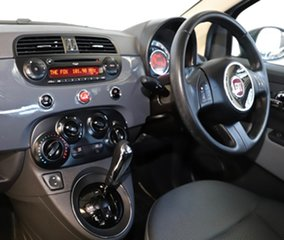 2015 Fiat 500 Series 3 Pop Dualogic Grey 5 Speed Sports Automatic Single Clutch Hatchback