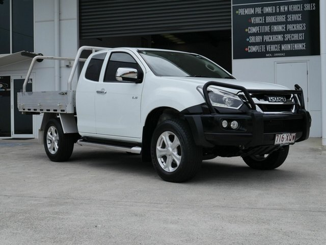 Used Isuzu D-MAX MY17 LS-U Space Cab Capalaba, 2017 Isuzu D-MAX MY17 LS-U Space Cab White 6 Speed Manual Utility
