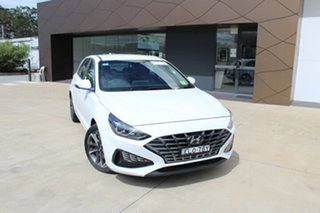 2020 Hyundai i30 PD.V4 MY21 Elite Polar White 6 Speed Sports Automatic Hatchback.
