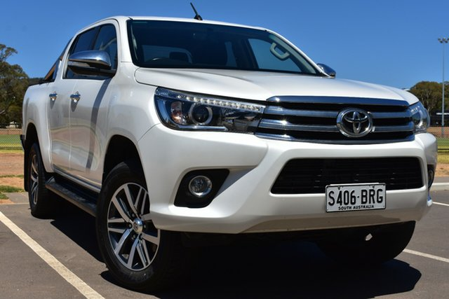 Used Toyota Hilux GUN126R SR5 Double Cab St Marys, 2017 Toyota Hilux GUN126R SR5 Double Cab White 6 Speed Sports Automatic Utility