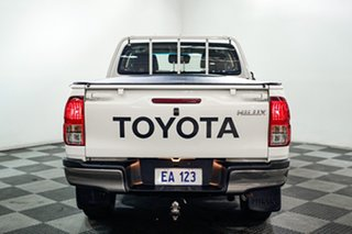 2018 Toyota Hilux GUN126R SR Double Cab White 6 Speed Sports Automatic Utility