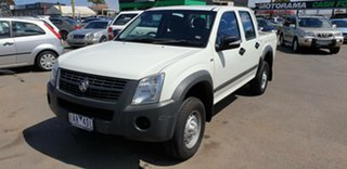 2008 Holden Rodeo RA MY08 LX Crew Cab 4x2 White 4 Speed Automatic Utility.