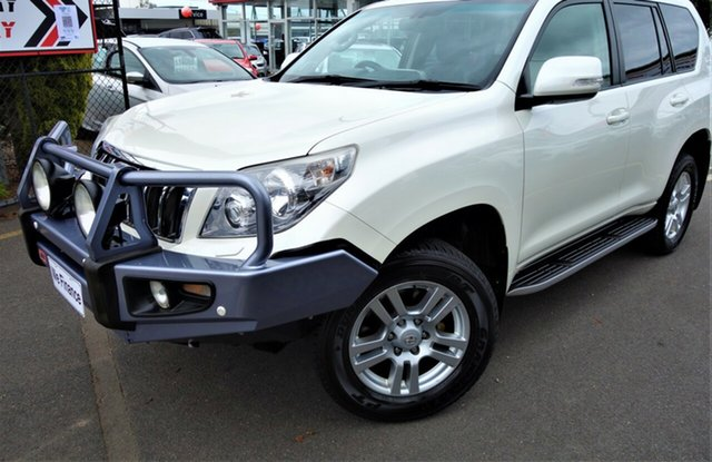 Used Toyota Landcruiser Prado KDJ150R VX Seaford, 2012 Toyota Landcruiser Prado KDJ150R VX White 5 Speed Sports Automatic Wagon