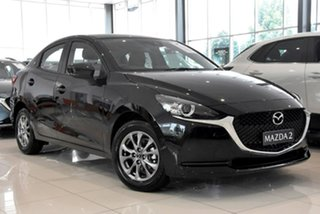 2020 Mazda 2 DL2SA6 G15 SKYACTIV-MT Pure Black 6 Speed Manual Sedan.