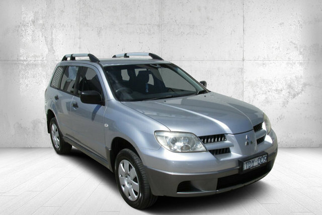 Used Mitsubishi Outlander ZE LS Bendigo, 2004 Mitsubishi Outlander ZE LS Silver 4 Speed Sports Automatic Wagon