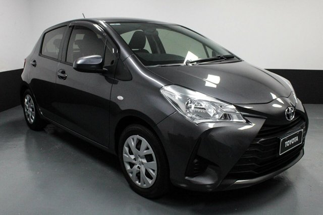 Used Toyota Yaris NCP130R Ascent Hamilton, 2017 Toyota Yaris NCP130R Ascent Graphite 4 Speed Automatic Hatchback