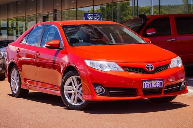 Used Toyota Camry ASV50R Atara S Gosnells, 2012 Toyota Camry ASV50R Atara S Red 6 Speed Sports Automatic Sedan