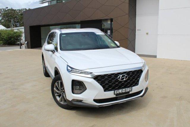 Demo Hyundai Santa Fe TM.2 MY20 Elite Tuggerah, 2020 Hyundai Santa Fe TM.2 MY20 Elite White Cream 8 Speed Sports Automatic Wagon