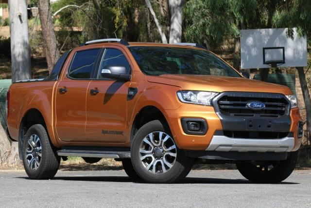 Used Ford Ranger PX MkIII 2019.00MY Wildtrak Clare, 2019 Ford Ranger PX MkIII 2019.00MY Wildtrak Orange 6 Speed Sports Automatic Double Cab Pick Up