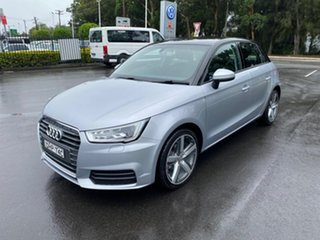 2016 Audi A1 8X MY16 Sportback S Tronic Silver 7 Speed Sports Automatic Dual Clutch Hatchback.