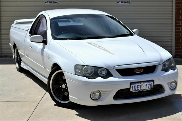 Used Ford Falcon BF XR8 Ute Super Cab Mount Lawley, 2006 Ford Falcon BF XR8 Ute Super Cab White 6 Speed Sports Automatic Utility