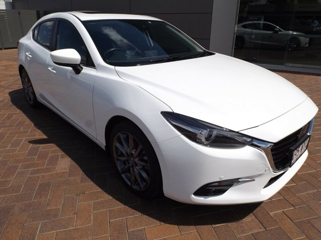 Used Mazda 3 BN5238 SP25 SKYACTIV-Drive Astina Toowoomba, 2016 Mazda 3 BN5238 SP25 SKYACTIV-Drive Astina White 6 Speed Sports Automatic Sedan