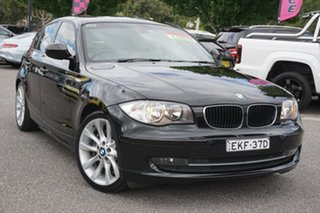 2011 BMW 1 Series E87 MY11 123d Steptronic Black 6 Speed Sports Automatic Hatchback.