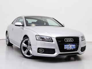 2011 Audi A5 8T MY12 3.0 TDI Quattro Silver, Chrome 7 Speed Auto Direct Shift Coupe.