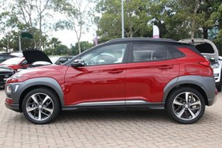2020 Hyundai Kona OS.3 MY20 Highlander 2WD Pulse Red & Black Roof 6 Speed Sports Automatic Wagon