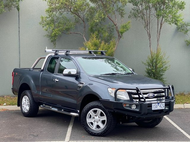 Used Ford Ranger PX XLT Super Cab Templestowe, 2014 Ford Ranger PX XLT Super Cab Blue 6 Speed Sports Automatic Utility