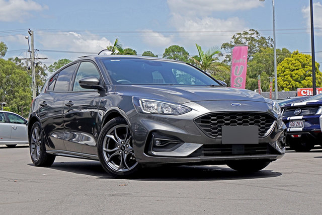 Used Ford Focus SA 2019.75MY ST-Line Springwood, 2019 Ford Focus SA 2019.75MY ST-Line Grey 8 Speed Automatic Hatchback