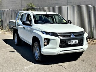 2019 Mitsubishi Triton MR MY19 GLX Double Cab ADAS White 6 Speed Sports Automatic Cab Chassis.