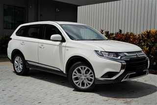 2020 Mitsubishi Outlander ZL MY21 ES AWD White 6 Speed Constant Variable Wagon.