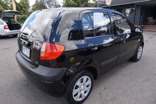2010 Hyundai Getz TB MY09 SX Ebony Black 5 Speed Manual Hatchback