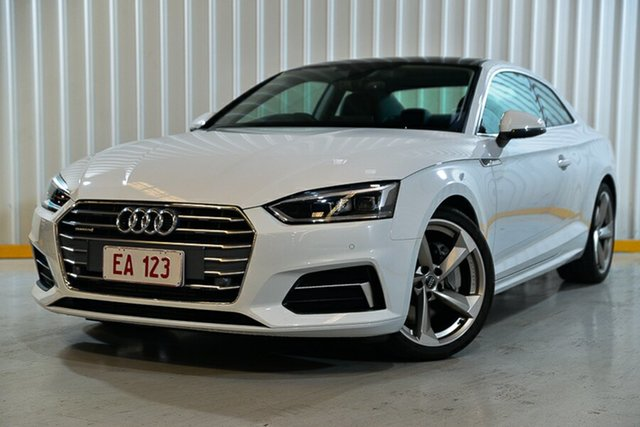 Used Audi A5 F5 MY17 Sport S Tronic Quattro Hendra, 2017 Audi A5 F5 MY17 Sport S Tronic Quattro White 7 Speed Sports Automatic Dual Clutch Coupe