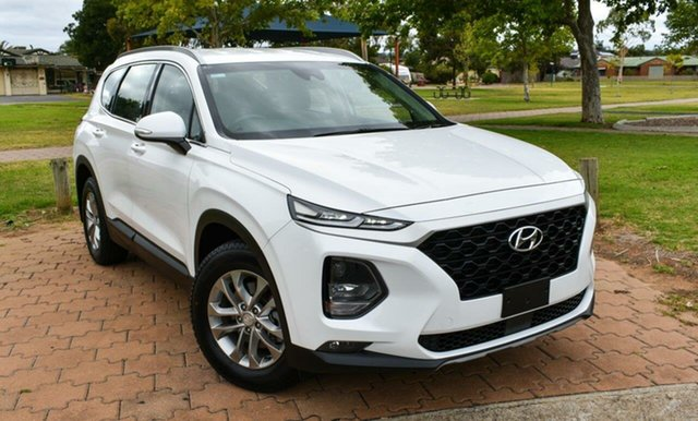 Used Hyundai Santa Fe TM MY19 Active Ingle Farm, 2018 Hyundai Santa Fe TM MY19 Active White 8 Speed Sports Automatic Wagon