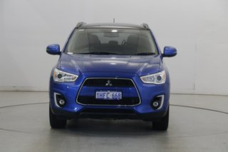 2015 Mitsubishi ASX XB MY15 XLS 2WD Lightning Blue 6 Speed Constant Variable Wagon.