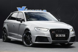 2015 Audi RS 3 8V MY16 Sportback S Tronic Quattro Grey 7 Speed Sports Automatic Dual Clutch.