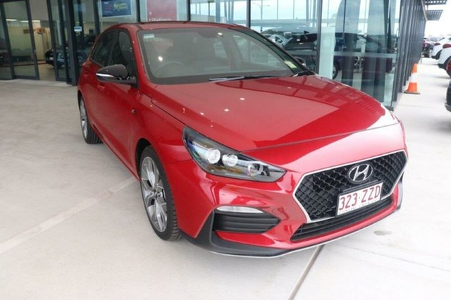 Demo Hyundai i30 PD.V4 MY21 N Line D-CT Augustine Heights, 2020 Hyundai i30 PD.V4 MY21 N Line D-CT Fiery Red 7 Speed Sports Automatic Dual Clutch Hatchback