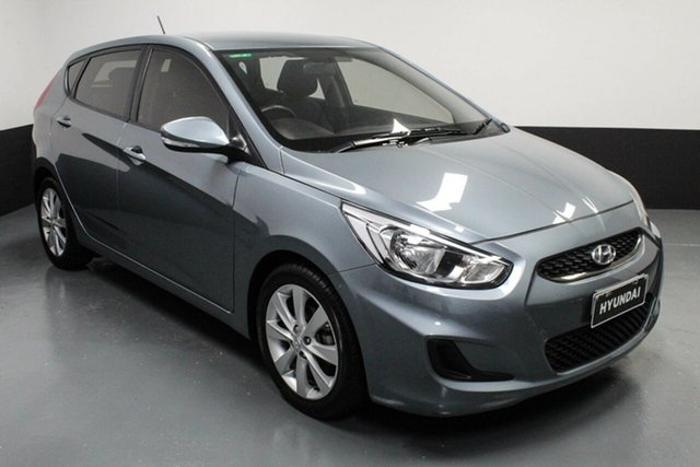 Used Hyundai Accent RB6 MY18 Sport Cardiff, 2017 Hyundai Accent RB6 MY18 Sport Lake Silver 6 Speed Sports Automatic Hatchback