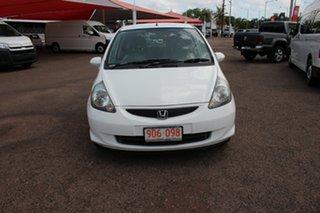 2007 Honda Jazz GD GLi White Nova 5 Speed Manual Hatchback.