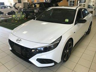 2020 Hyundai i30 CN7.V1 MY2021 N Line Premium Polar White Semi Auto Sedan.