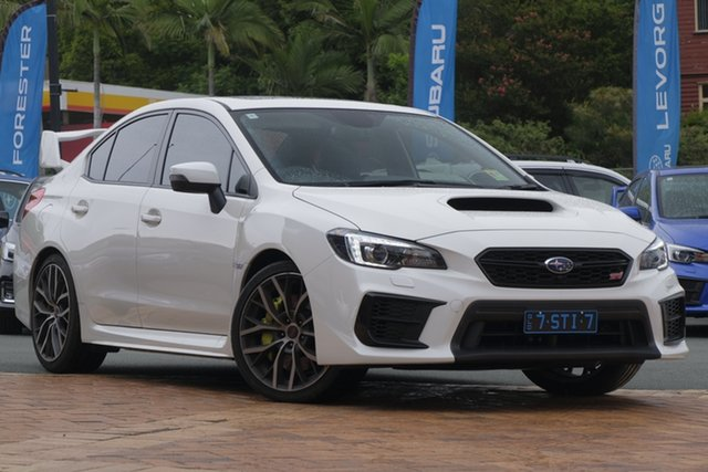Demo Subaru WRX V1 MY21 STI AWD Premium Newstead, 2020 Subaru WRX V1 MY21 STI AWD Premium White Crystal 6 Speed Manual Sedan