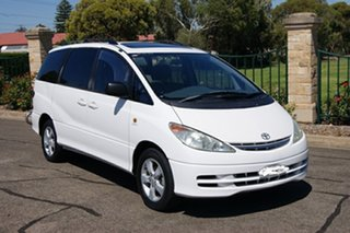 2000 Toyota Tarago ACR30R Ultima White 4 Speed Automatic Wagon.