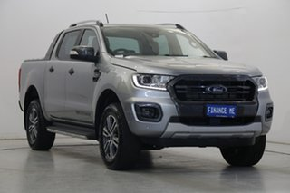 2019 Ford Ranger PX MkIII 2019.00MY Wildtrak Aluminium 10 Speed Sports Automatic Double Cab Pick Up