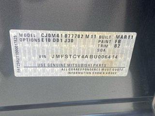 2011 Mitsubishi Lancer CJ MY11 ES Silver 6 Speed Constant Variable Sedan