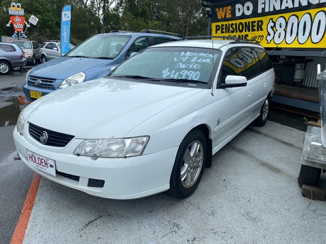 Used Holden Commodore Morayfield, 2003 Holden Commodore VY EXEC White 4 Speed Auto Active Select Wagon