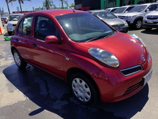 2009 Nissan Micra K12 Red 4 Speed Automatic Hatchback.