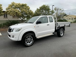 2012 Toyota Hilux KUN26R SR White 5 Speed Manual Extracab