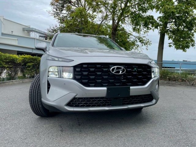 New Hyundai Santa Fe Tm.v3 MY21 Active DCT Springwood, 2020 Hyundai Santa Fe Tm.v3 MY21 Active DCT Typhoon Silver 8 Speed Sports Automatic Dual Clutch