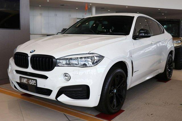 Used BMW X6 F16 xDrive30d Coupe Steptronic Essendon Fields, 2018 BMW X6 F16 xDrive30d Coupe Steptronic White 8 Speed Sports Automatic Wagon