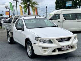 2012 Ford Falcon FG MkII White 6 Speed Automatic Cab Chassis.