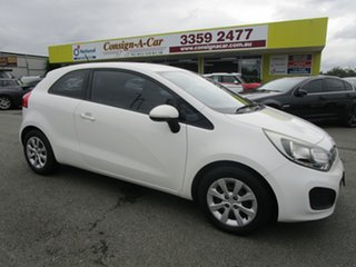 2012 Kia Rio UB MY12 S White 4 Speed Sports Automatic Hatchback.