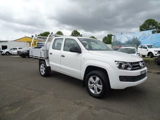 2016 Volkswagen Amarok 2H MY17 TDI420 4MOTION Perm Core Candy White 8 Speed Automatic Cab Chassis.