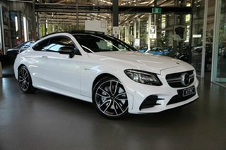 2019 Mercedes-Benz C-Class C205 809MY C43 AMG 9G-Tronic 4MATIC White 9 Speed Sports Automatic Coupe.
